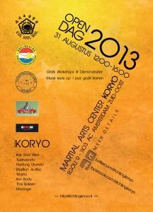 Koryo Open Dag 2013